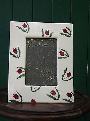 Nicholas Mosse Pottery large Photo Frame with red Tulip design Fully stamped