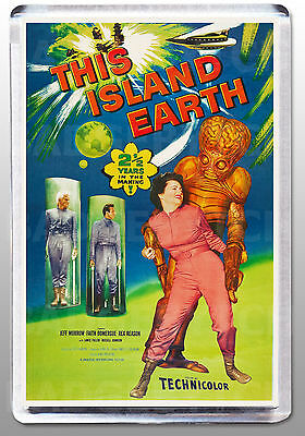 THIS ISLAND EARTH movie poster LARGE FRIDGE MAGNET - Sci-Fi classic! Style 'A'