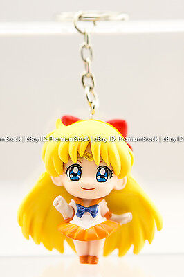 "Japan Anime Sailor Moon Venus 1.5"" Keychain Action Figure New Free Ship"