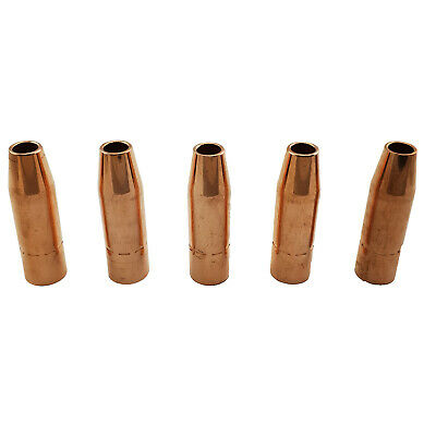 TWECO #2 Style MIG Gas Nozzle / Shroud 13mm - 5 Pack - Self Insulated