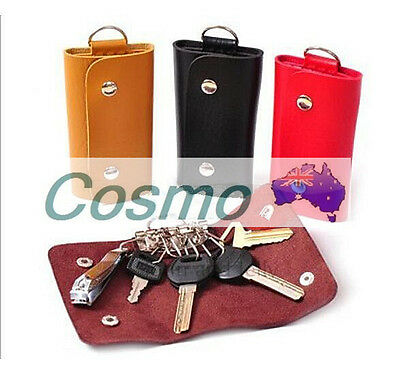 PU Leather Key Wallet Case Holder Purse Pouch Organiser Keyrings Unisex Car