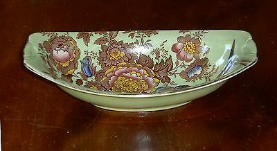 ***REDUCED*** MALING WARE LUSTRE DISH GREEN PHEASANT # 6549