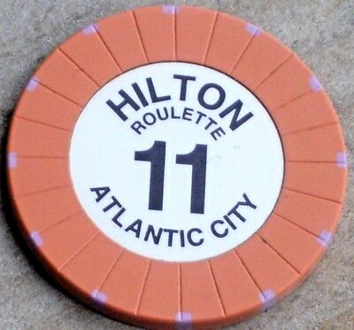 ROULETTE CHIP (PCH) FROM THE ATLANTIC CITY HILTON CASINO