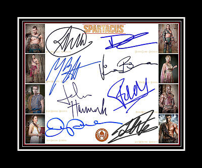 SPARTACUS Liam McIntyre Lucy Lawless Manu Bennett +5Cast print TV signed display