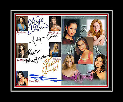 CHARMED - Alyssa Milano, Kaley Couco, Holly M Combes +2cast matted print display