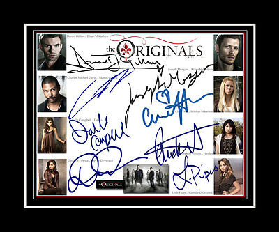 THE ORIGINALS Joseph Morgan, Daniel Gillies, + 6cast signed matted print display