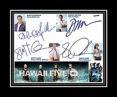 HAWAII FIVE-0 Alex o'Loughlin, Scot Caan, Grace Park Daniel Dae Kim matted print