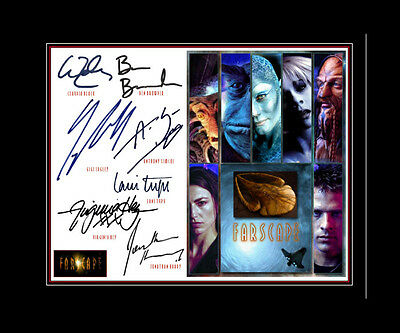 FARSCAPE Ben Browder- Claudia Black- Gigi Edgley +3  Cast matted print display