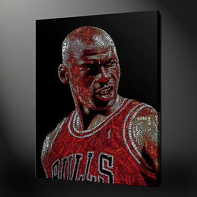 Michael Jordan Canvas Picture Print Wall Art Home Decor Free Fast Delivery
