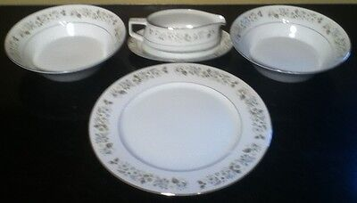 Imperial China W. Dalton 745 Wildflower Serving Bowls And Platter Set