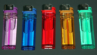 Lot of 10 Disposable Adjustable Butane Lighters Fireplace Camping Candle COLORS