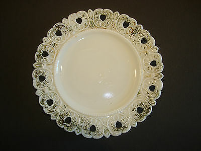 Vintage Antique Decorative Plate Westmoreland Milk Glass Fancy Design Lot B