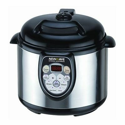 New Newwave Multifunction 5 in 1 Pressure Slow Rice Cooker Steamer