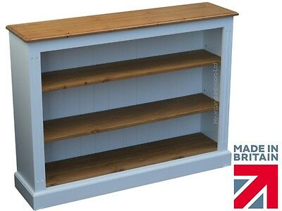 White Painted Bookcase, 3ft x 4ft Low Adjustable Display Shelving,Bookshelves