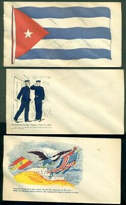 Spanish American War Patriotic covers, 6 different, unused, VF and colorful
