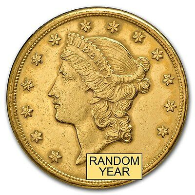 $20 Liberty Gold Double Eagle Coin - Pre-33 Gold Coin - Random Year - Cleaned