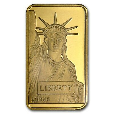 10 gram Statue of Liberty Credit Suisse Gold Bar - SKU #45921