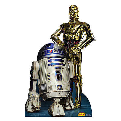R2-D2 & C-3PO Star Wars Droids Retouched CARDBOARD CUTOUT Standup Standee Poster