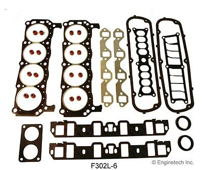 Ford 302 5.0 FULL rebuild Gasket set Overhaul Gaskets 1986-1995 by Enginetech