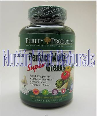 Purity Products Perfect Multi Super Greens - Bottle of 120 Capsules FREE!! Ship!