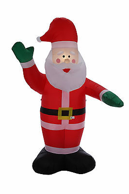 Homegear 8 ft Christmas Inflatable Santa Claus Air Blown Yard Decoration