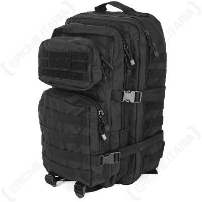 MilTec BLACK MOLLE ASSAULT PACK Military 36L Tactical BACKPACK Rucksack Army Bag