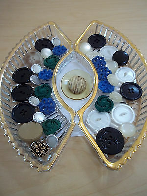 Vintage Assorted Button Lot Celluloid - Casein Plastic - Metal - and More!