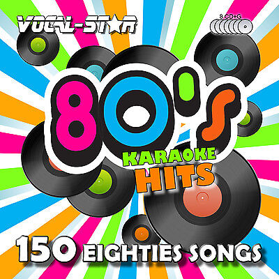 VOCAL-STAR 80s DECADES SONGS KARAOKE DISC PACK CD+G 8 DISCS 150 SONGS