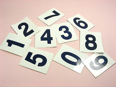 Self ADHESIVE 0~9 Numeral DIGITS NUMBER Vinyl Sticker Decal LABELS 32x40mm