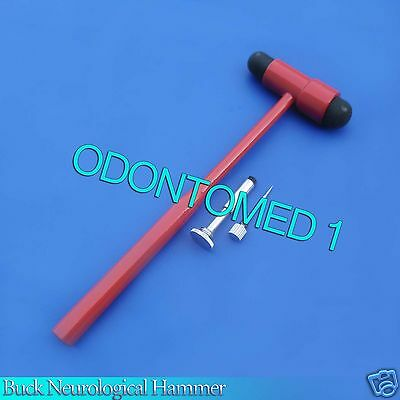 Buck Neurological Hammer In Red Medical Surgical Instruments