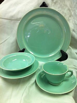 Vintage Lu-Ray Pastels TS&T Co 1938-1962. 5 Pc. Surf Green