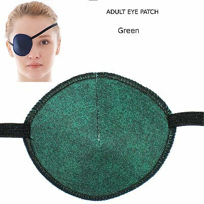 Medical Eye Patch - GREEN/BLACK, Right or Left Eye - Sold to the NHS
