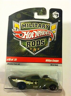 Hot Wheels Military Rods WILLYS COUPE #15 of 26 U.S. Army Rare
