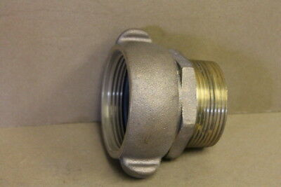 """Pipe to hose adapter, 2 1/2"""" NPT to 2 1/2"""" NH, Straight, Bronze Firehose adapter"""