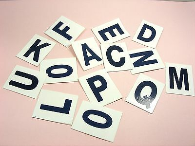 Self ADHESIVE 32x40mm Initial ALPHABET LETTER Vinyl STICKER Decal LABELS