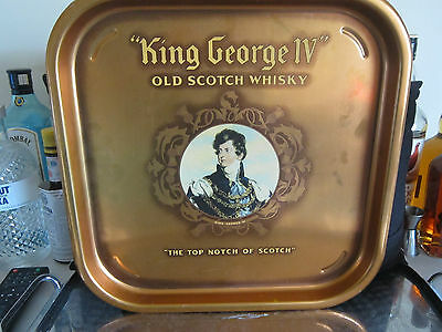 VINTAGE COLLECTIBLE KING GEORGE IV OLD SCOTCH WHISKY TRAY..MAN CAVE..BAR