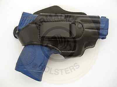 Armadillo Black Leather Belt Holster w/clip for S&W M&P Models (H2B) (OWB)
