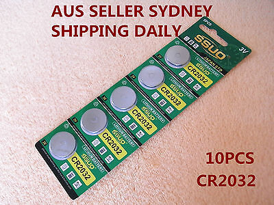 10pcs CR2032 Button Cell Battery Coin Lithium Battery 3V Watches Toys Calculator