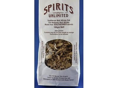 SPIRIT UNLIMITED CHIPS Spirits Unlimited Southern Malt Whisky Oak 100gm nett  x3
