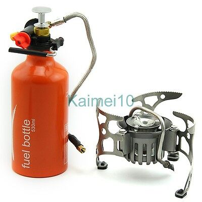 New Windproof Fuel Outdoor Cooking Oil Gasoline Gas Stove Picnic Camping Furnace