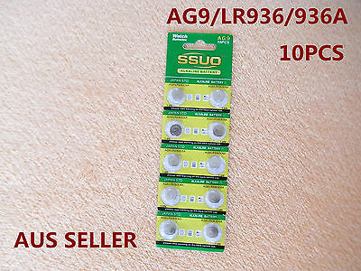 10pcs AG9/LR936/936A Button Cell Coin JAPAN STD Alkaline Battery 1.55V  Watches