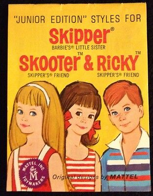 Vintage 1964 Skipper Scooter & Ricky Booklet (See Photo's Of Inside Of Booklet)