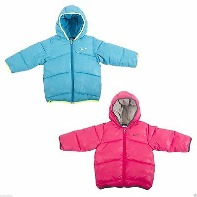 Nike Infant Unisex Hooded Casual Jacket Autumn Winter Pink Blue All Sizes 426079