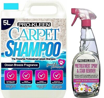Carpet Upholstery Extract Odour Cleaning Shampoo Solution & Stain Remover Spray