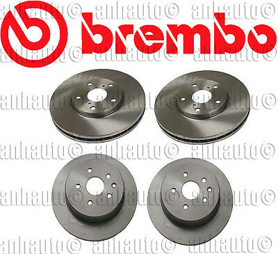 FRONT+REAR POWER PERFORMANCE DRILLED SLOTTED PLATED BRAKE DISC ROTORS 82404PS