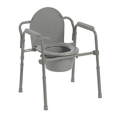 Drive Medical -11148  All-In-One Steel Commode Chair.