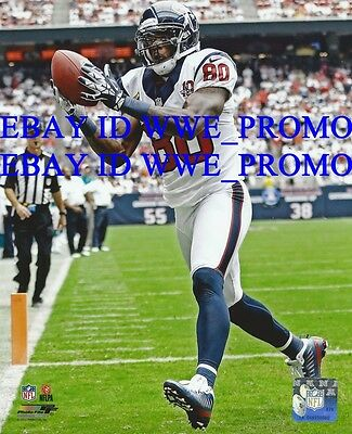 195263b4d Andre Johnson HOUSTON TEXANS NFL OFFICIAL LICENSED Picture 8X10 Football  PHOTO