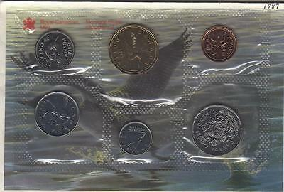 1989 Canada Proof-Like Coins Set (6 Coins Cent to $1). MINT UNC.