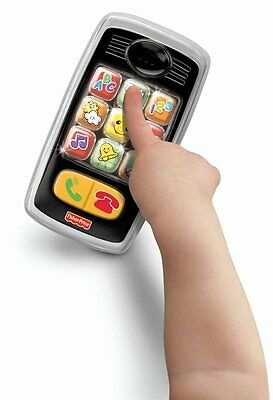 New Fisher Price Smilin' Smart Phone Laugh & Learn Interactive Developmental Toy