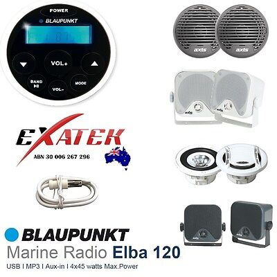 Blaupunkt Marine Waterproof Audio Kit MP3/USB/AM/FM/Ipod NEW Latest Boat Stereo